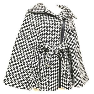 Houndstooth Cape Coat